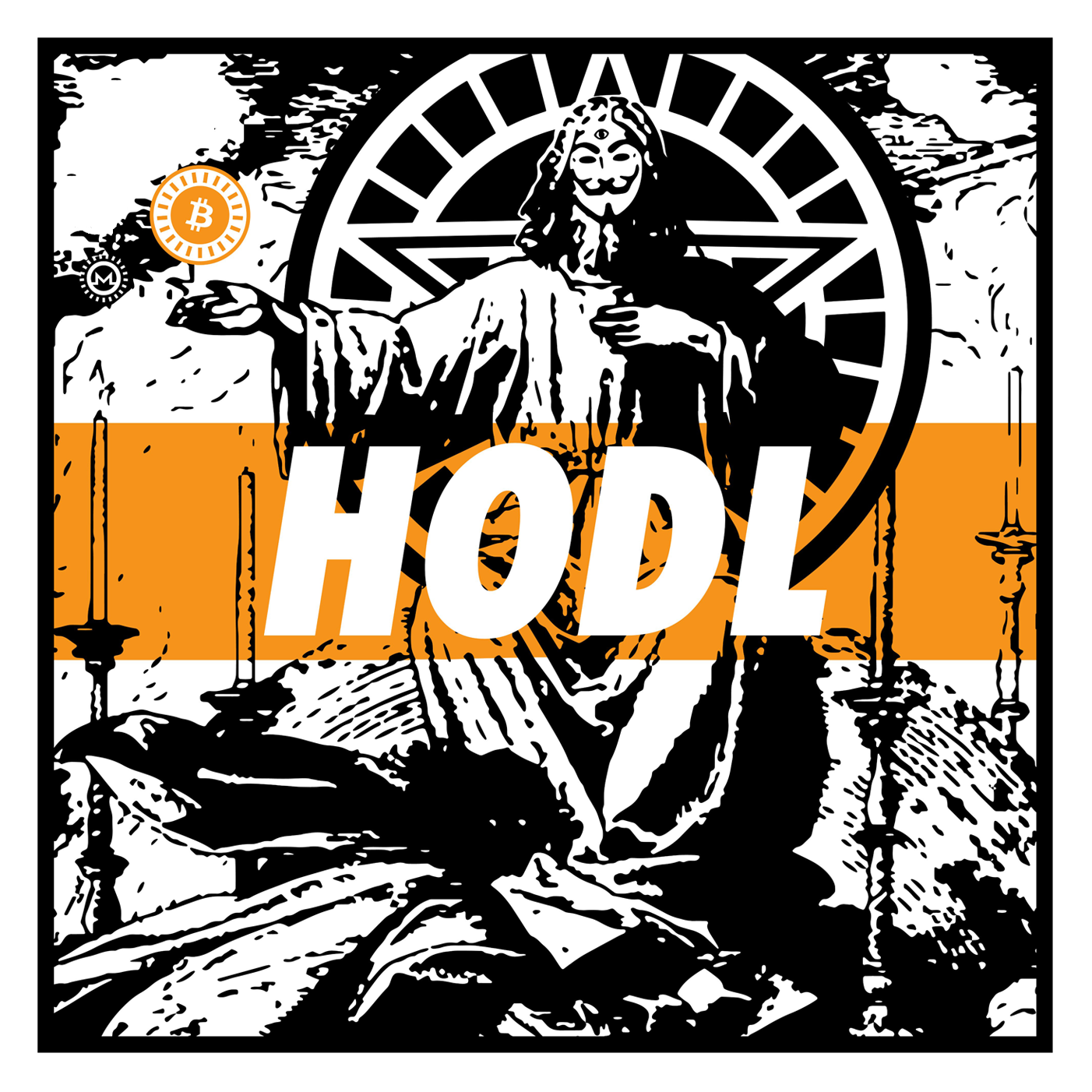 HODL Bitcoin Sticker