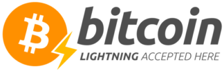 Bitcoin lightning accepted sticker