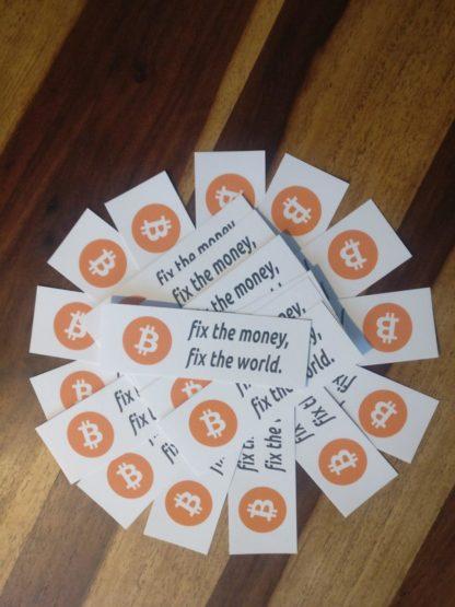 Bitcoin fix the money fix the world