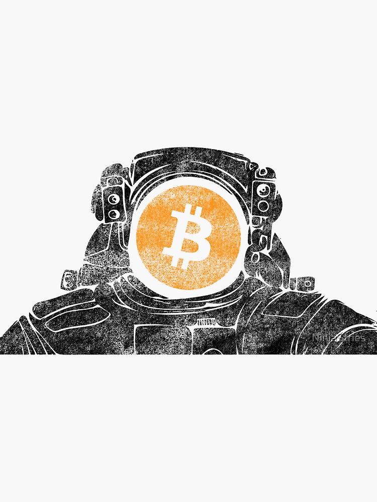 Bitcoin Astronaut Graffiti