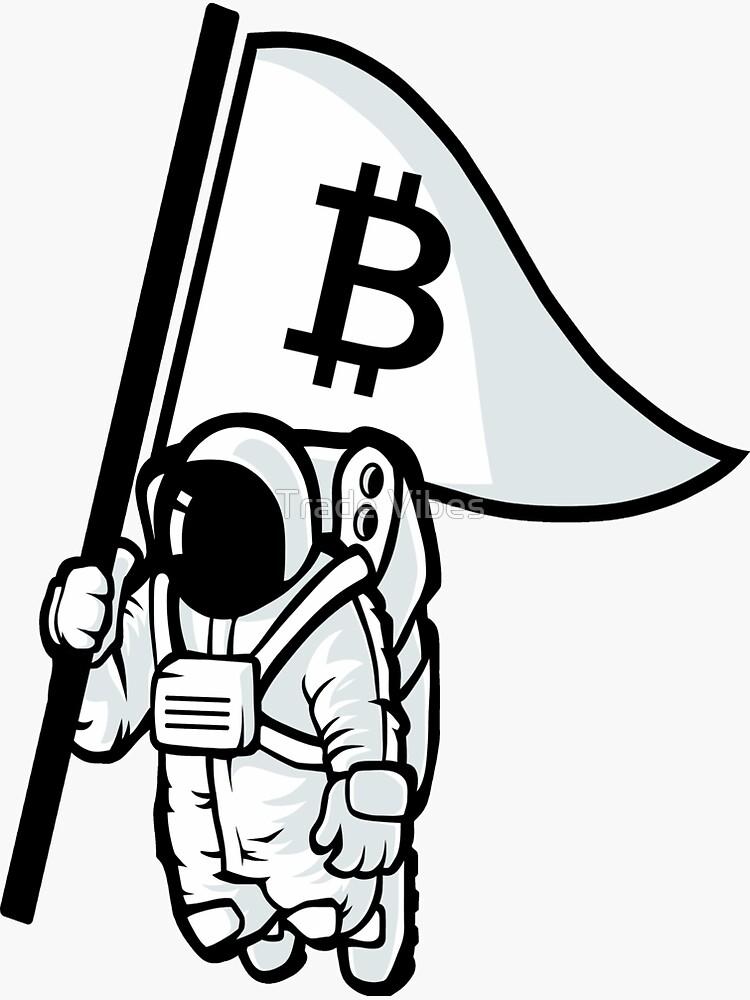 Bitcoin Flag Astronaut 2