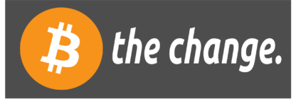 """B the change""-sticker"