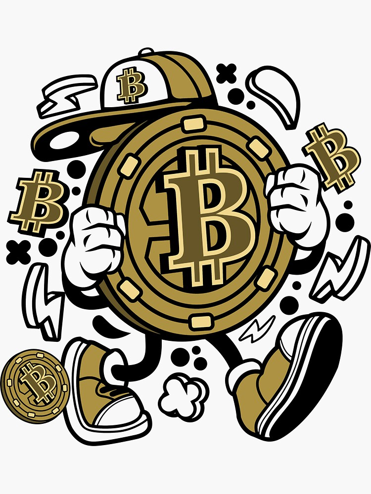 Bitcoin Coin Cartoon