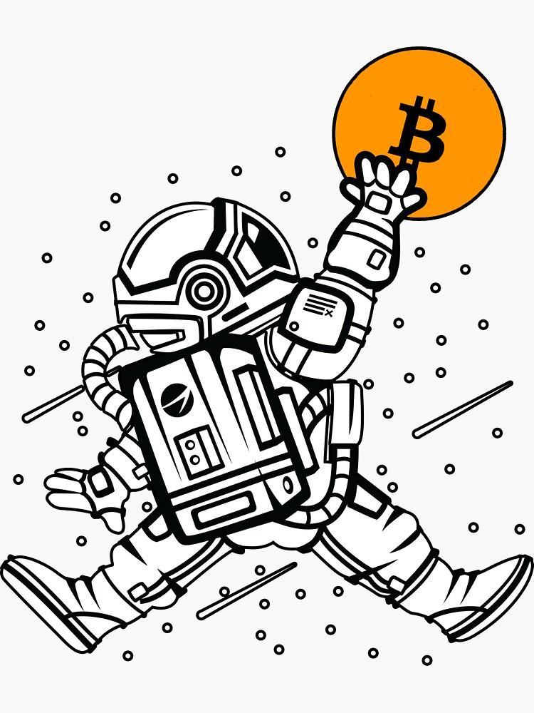dunking bitcoin astronaut