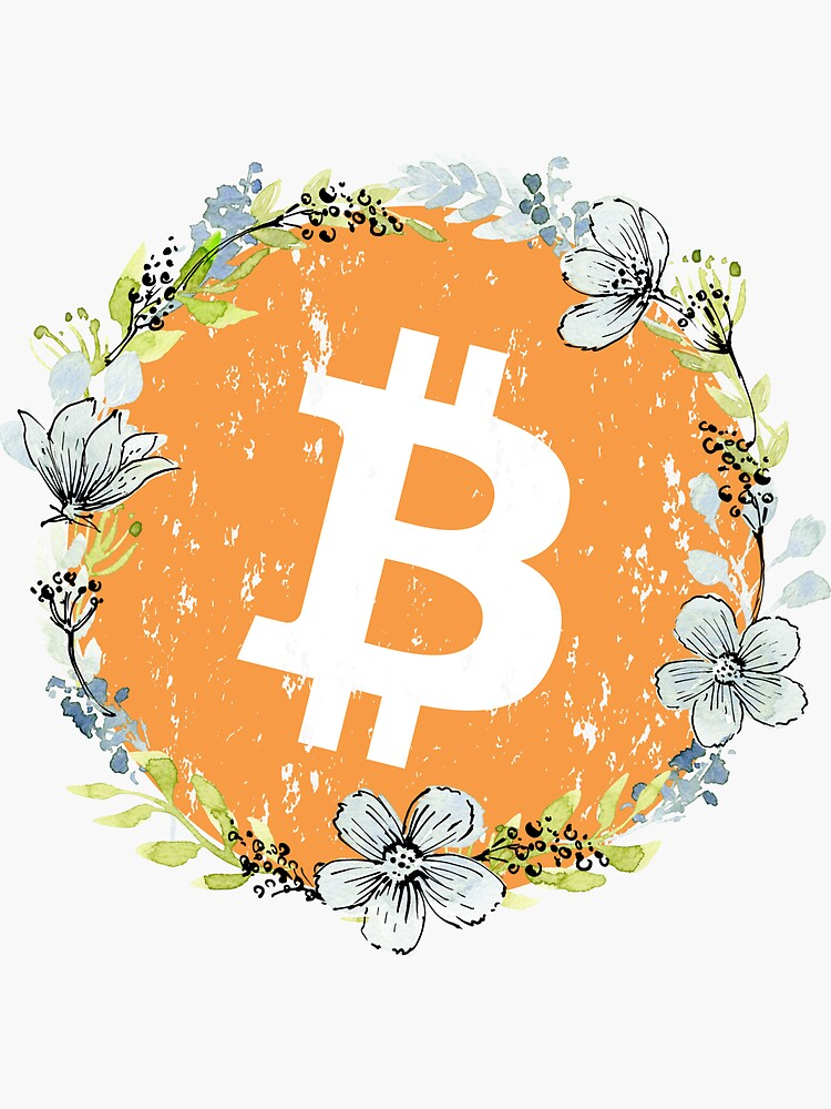 Bitcoin Flower Wreath Logo