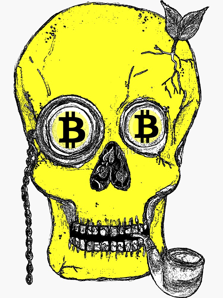 Bitcoin yellow skull