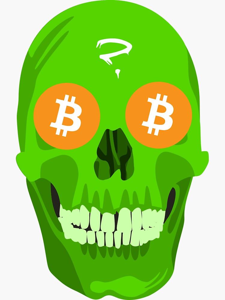Bitcoin green skull