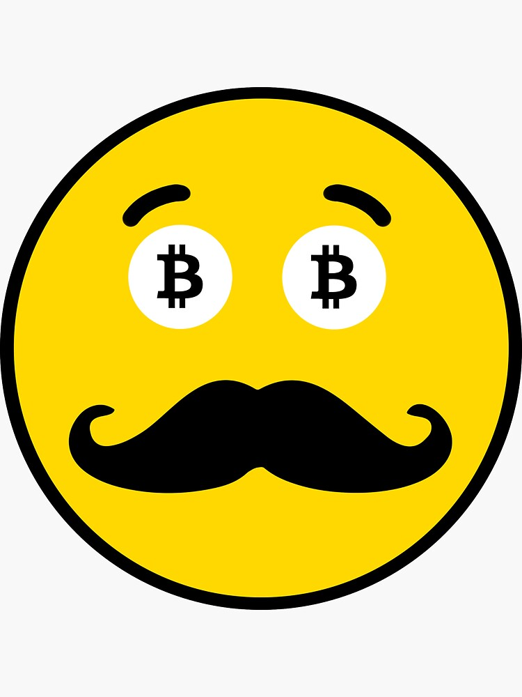 Bitcoin Mustache Smiley